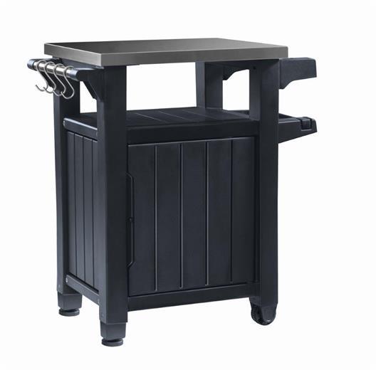 Grilovací stolek Keter UNITY 105L grafitový
