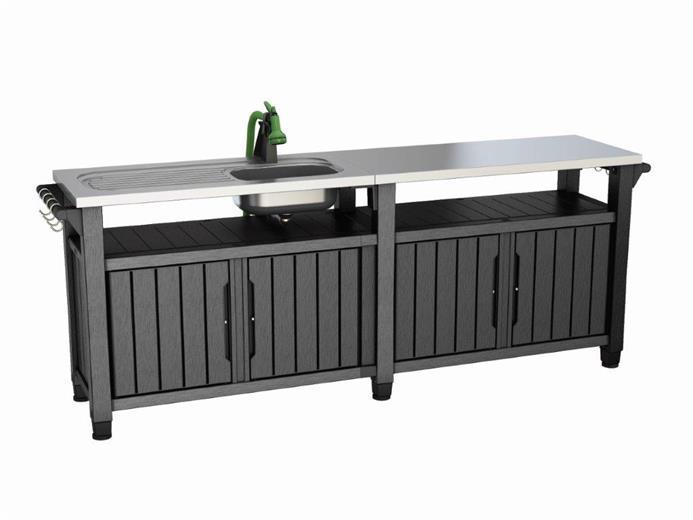Grilovací stolek Keter UNITY Chef 415 L grafitový