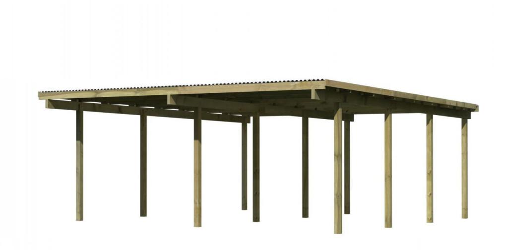 dvojitý carport KARIBU ECO 2A 73092