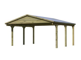 carport KARIBU SATTELDACH 3 43470