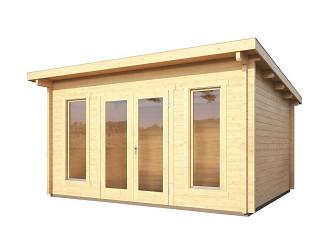 dřevěný domek KARIBU STAVANGER 2 (82877) natur