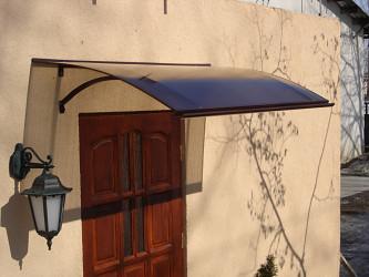 stříška nad dveře LANITPLAST LARUS 160/87 hnědá