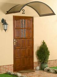 stříška nad dveře LANITPLAST ONYX 250/75 hnědá