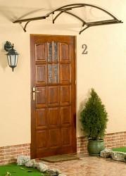 stříška nad dveře LANITPLAST LEO 160/90 hnědá