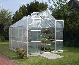 skleník VITAVIA URANUS 8300 PC 6 mm stříbrný